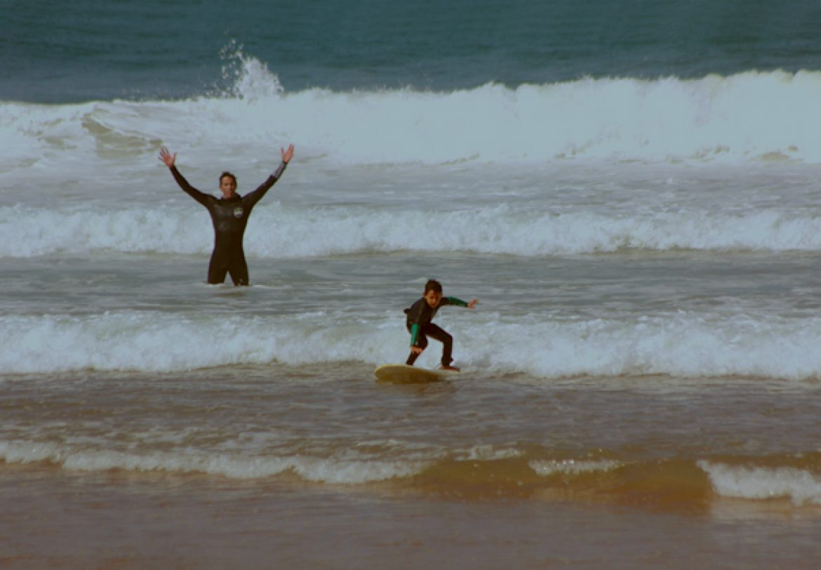 Surf lessons for kids